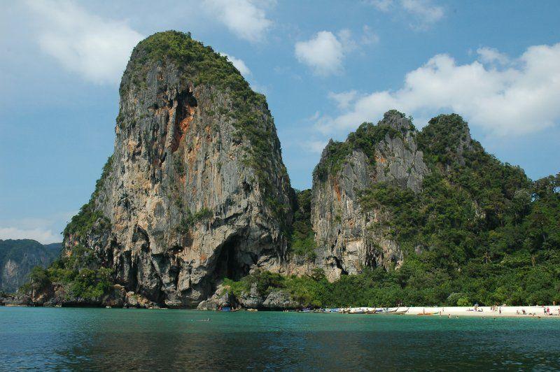 Railay beach limestone cliffs