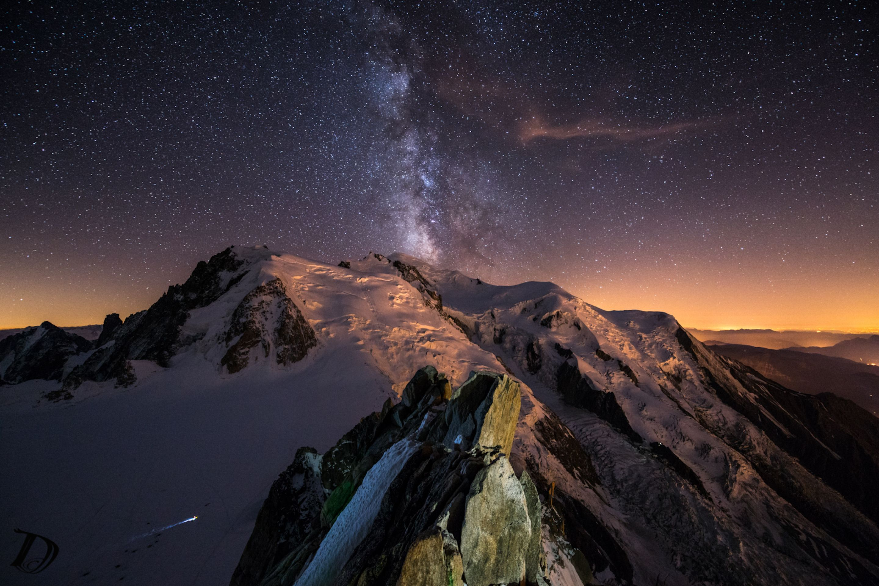 The Milky Way Over Mont Blanc