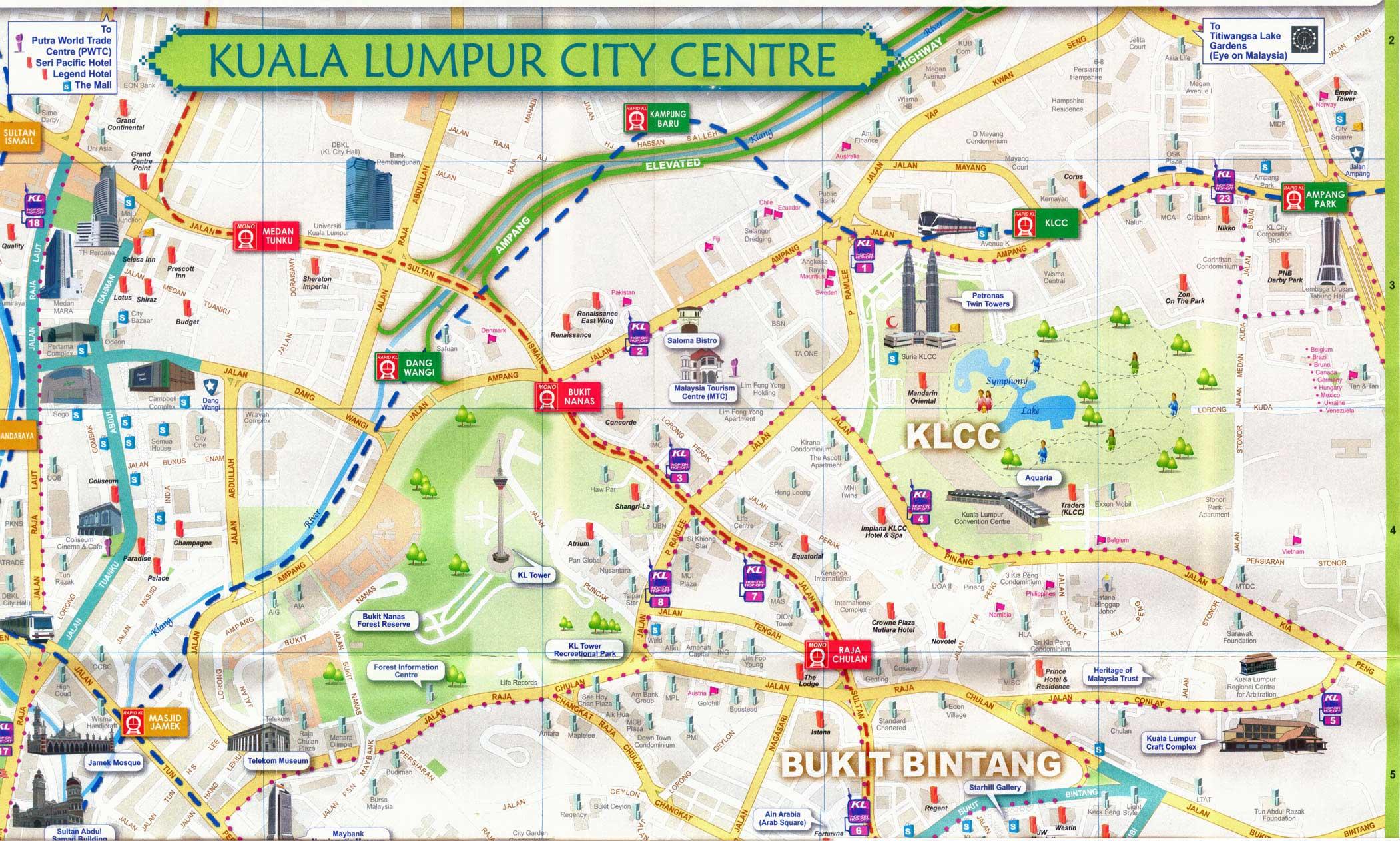 Kuala Lumpur Maps And Travel Guide