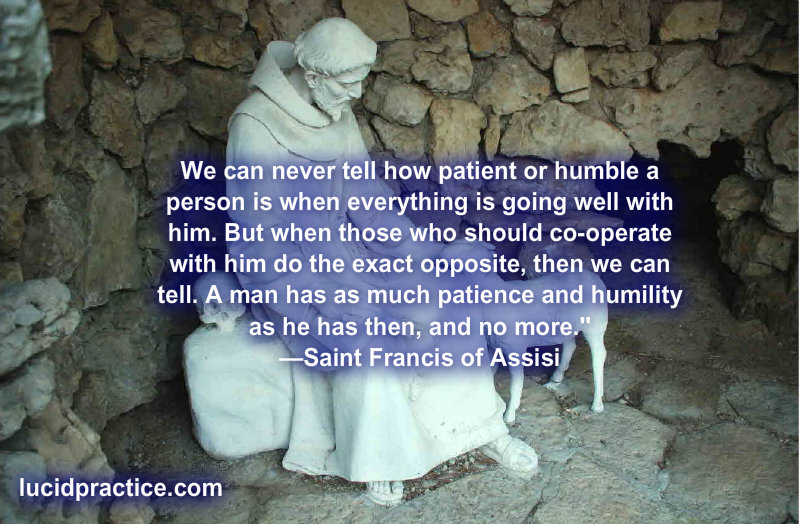 St. Francis on Patience and Humility