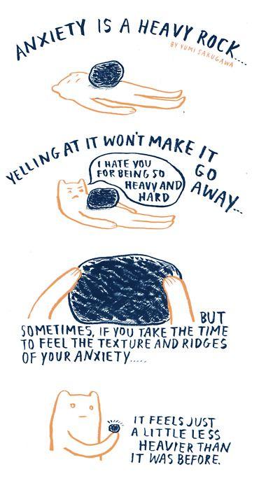 Anxiety Illustration by  Yumi Sakugawa