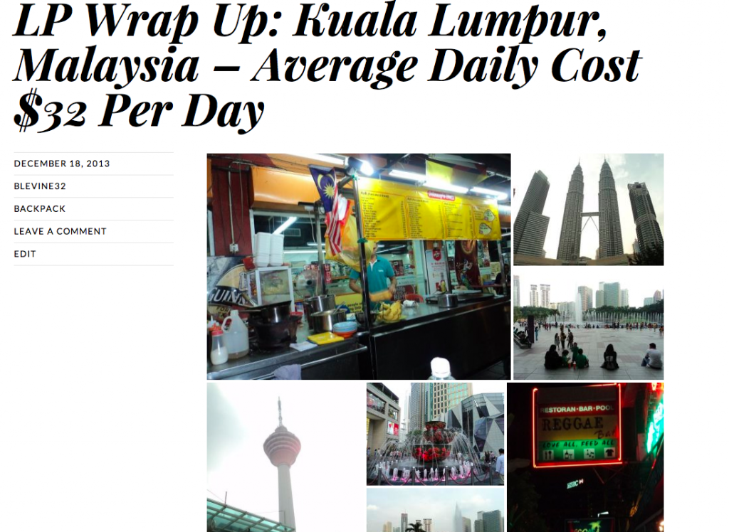 Lucid Practice Kuala Lumpur Backpacking Tourist Guide