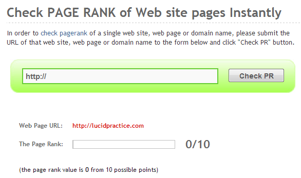 page rank december 2013