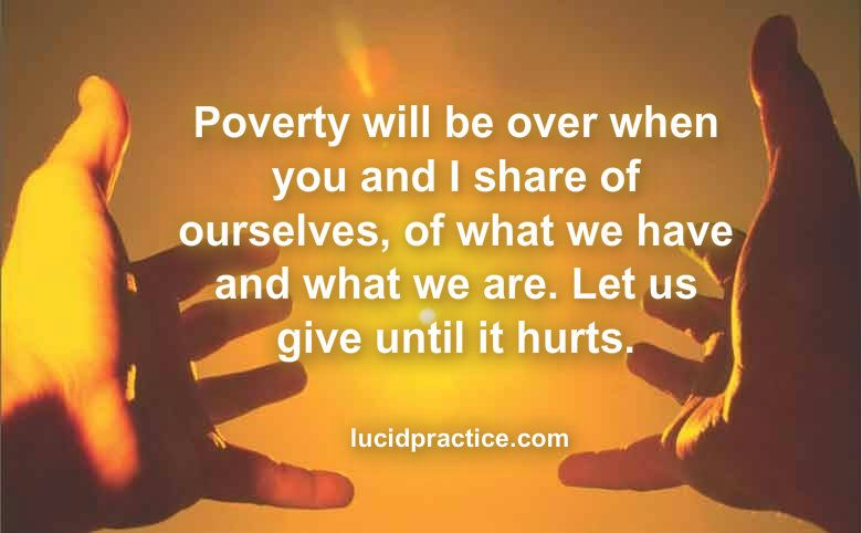 give until it hurts