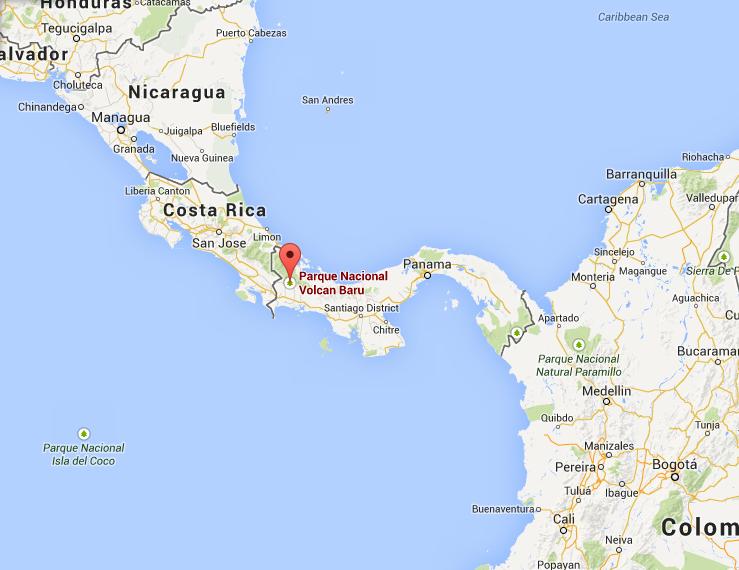 Volcan Baru Map Location