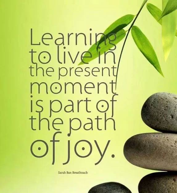 learning to live in the present moment is part of the joy