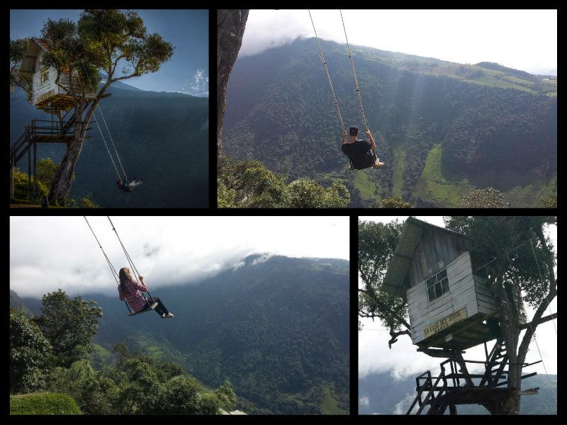 Banos Ecuador Tree House Volcano House Swing at the end of the world