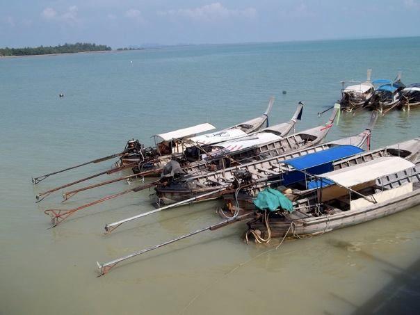 Krabi to Railay Beach Thailand fishtail boat