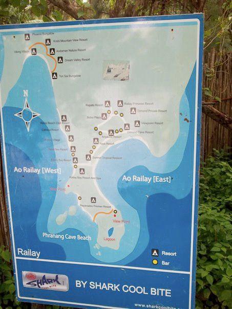 Railay Beach Tourist Map