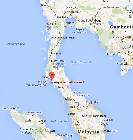 Where is Railay Beach Thailand