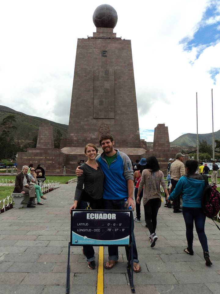kate and brian at the equator