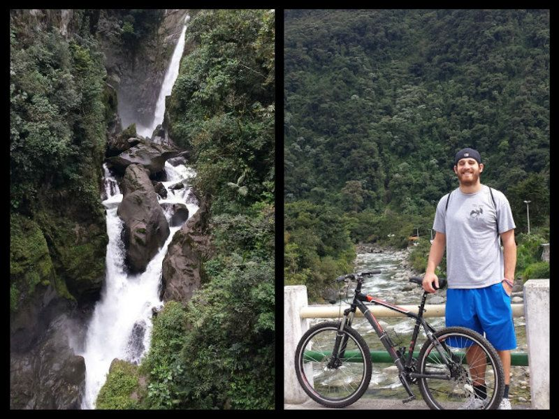 waterfall day in banos