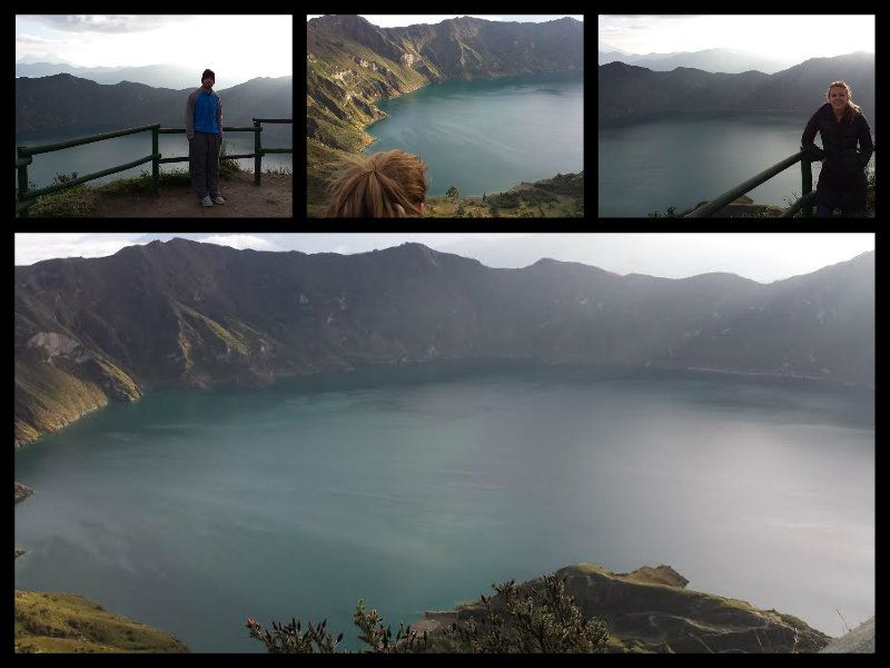 quilotoa crater lake lagoon