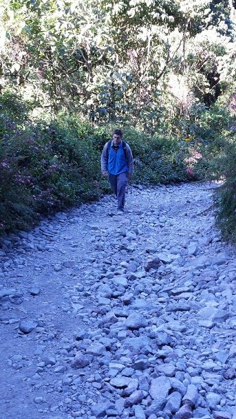 volcan baru hike terrain rocks tough