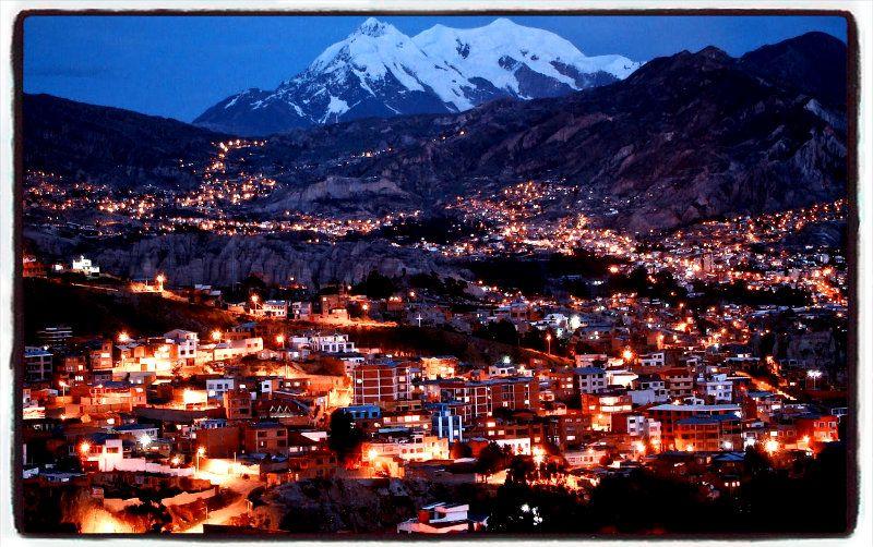 La Paz Bolivia Night La Paz Bolivia View