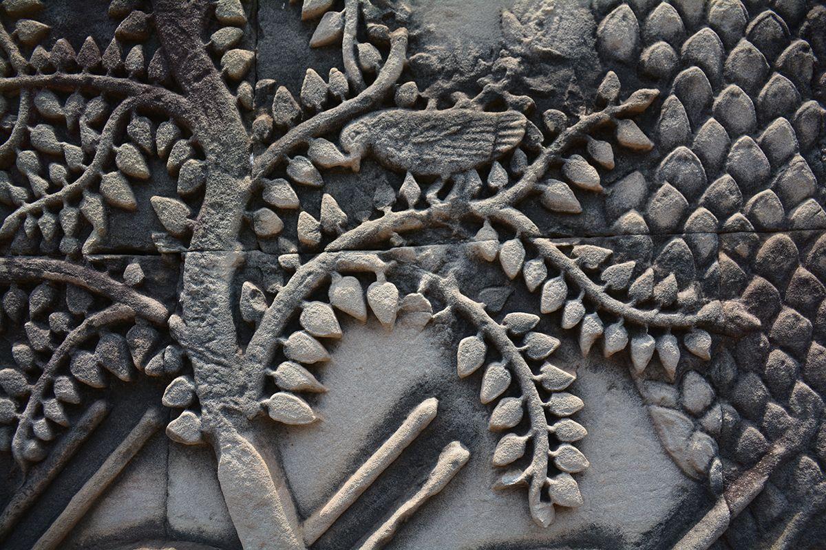 Engraving Angkor Thom