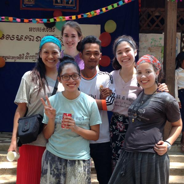 Danielle & classmates Siem Reap Cambodia Lucid Practice Khmer New Year