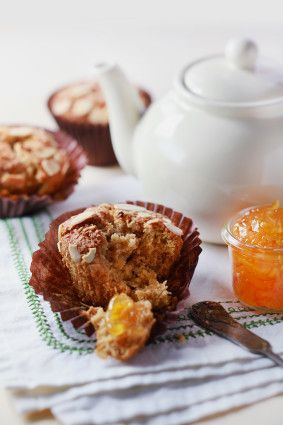 Gluten Free Muffins Orange Almond Coconut.