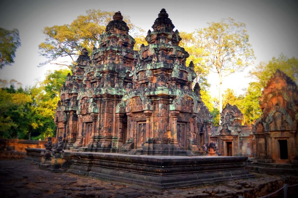The Banteay Srei temple.